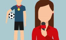 Sport Mikrofon Fußball Reporter