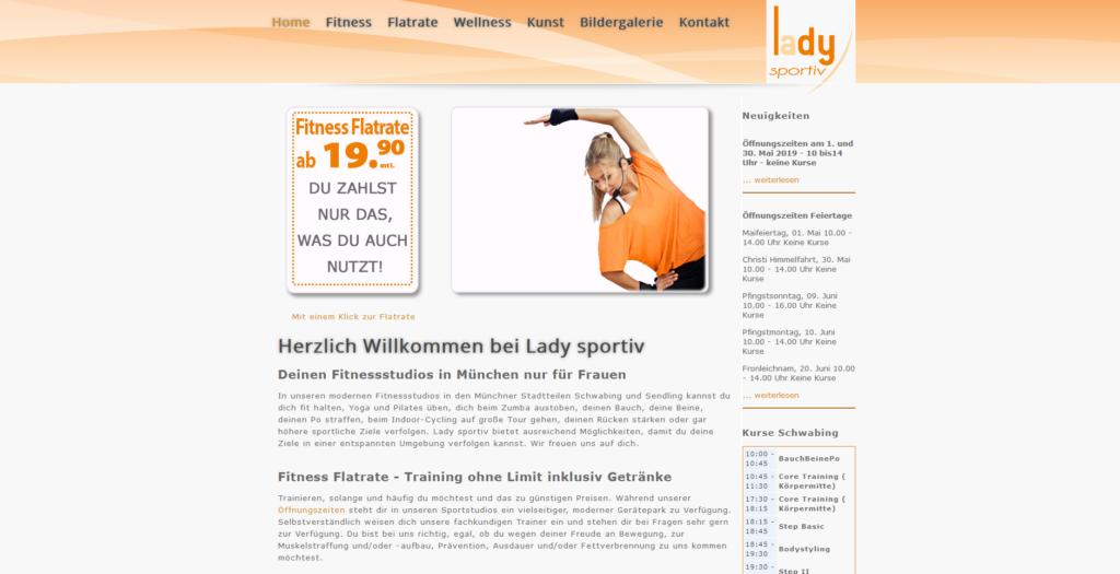 Fitnesstudio Schwabing LADY SPORTIV