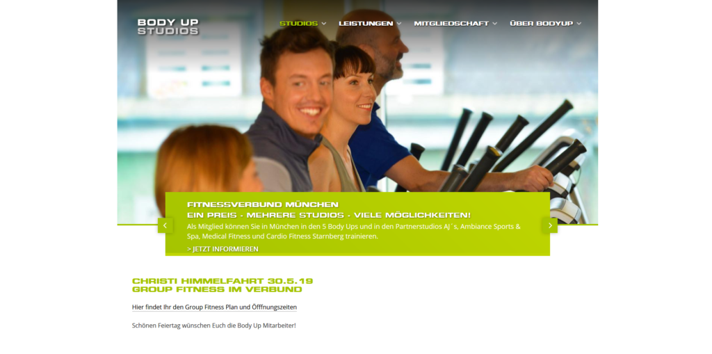 Fitnessstudio München Ost BODY UP STUDIOS_Giesing