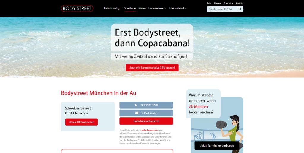 Fitnessstudio München Ost Body steet_Au