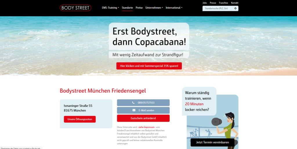 Fitnessstudio München Ost Body steet_Friedensengel