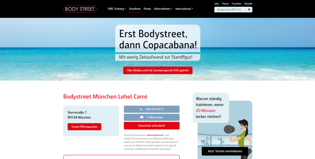 Fitnessstudio München Ost Body steet_Lehel Carre