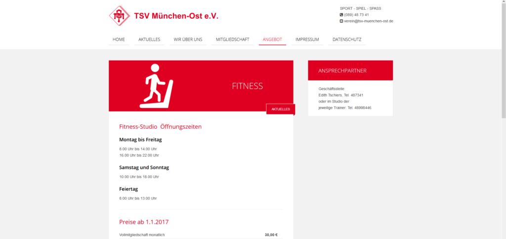 Fitnessstudio München Ost Tsv München-Ost