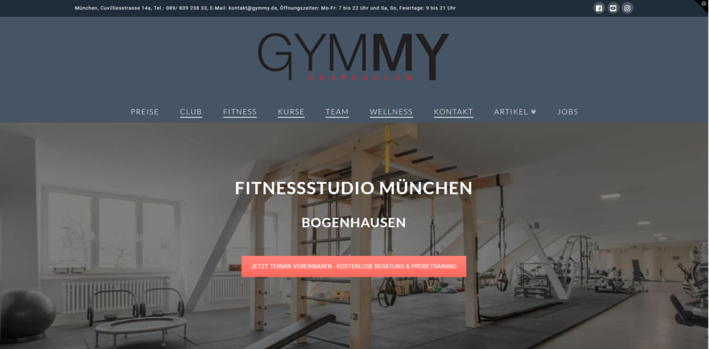 Fitnessstudio München Ost gymmy