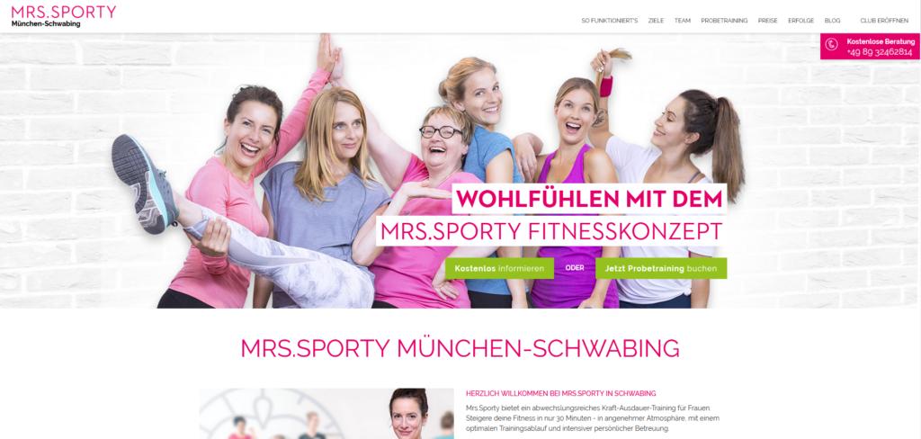 Fitnesstudio Schwabing MRS SPORTY