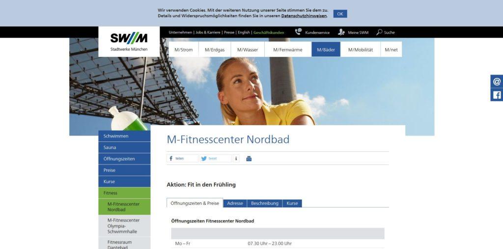 Fitnesscenter Schwabing M FITNESSCENTER NORDBAD